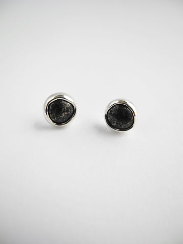 iron pyrite earrings