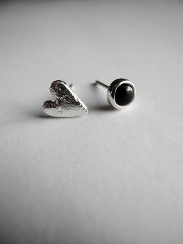 heart and stone earrings