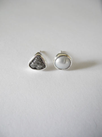diamond and pearl studs