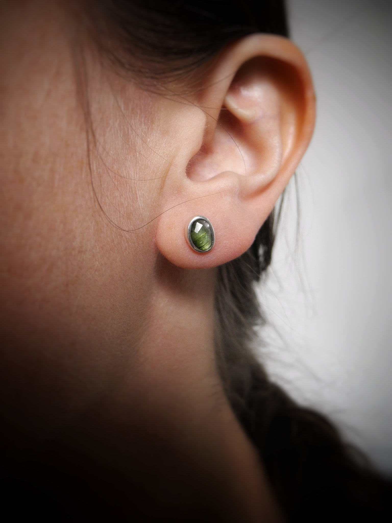 tourmaline twin flame studs