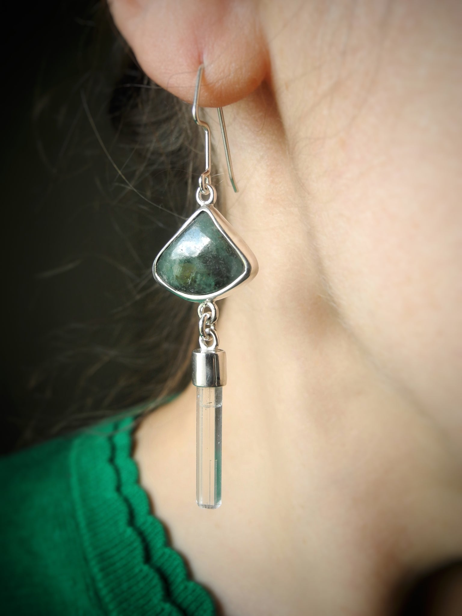 all the greens of nature earrings