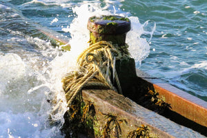 Waves hitting Groyne  - Fine Art Print
