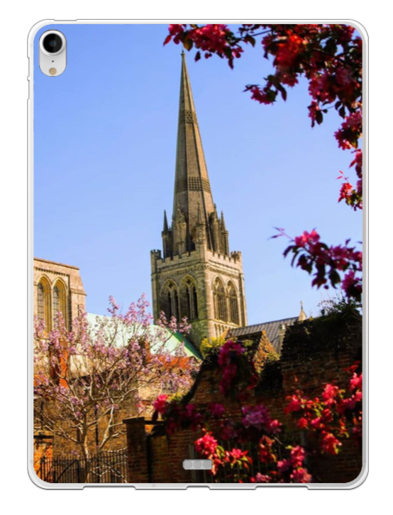 Chichester Cathedral with Red Frame - iPad Silicone Case