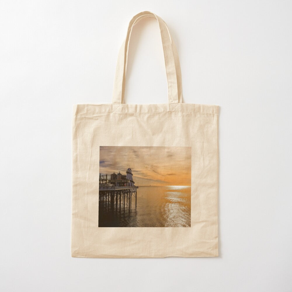 Brighton Pier Sunset Tote Bag