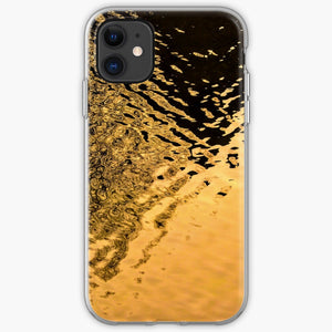 Abstract Reflection Orange 1 - Silicone Case