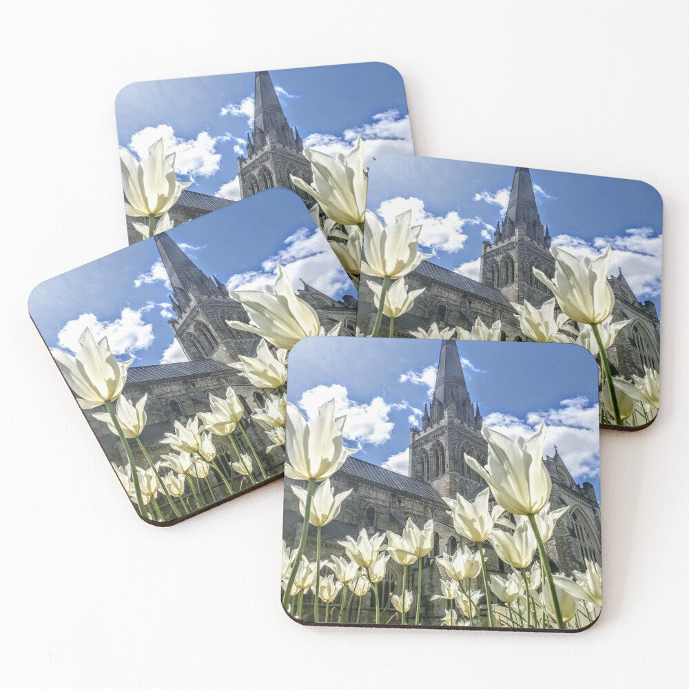 White Tulips - Coasters & Placemats