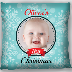 Babies 1st Christmas Cushion