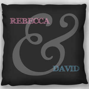 Ampersand Couple Cushion