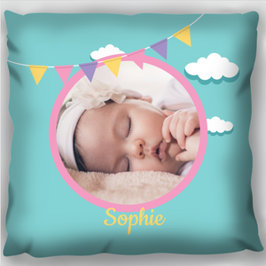 Baby Bunting & Clouds Photo Cushion