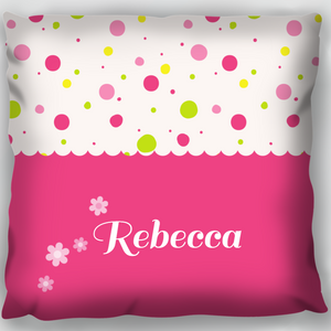 Pink Name Cushion