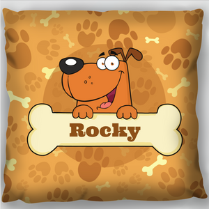 Dog & Bone Cushion