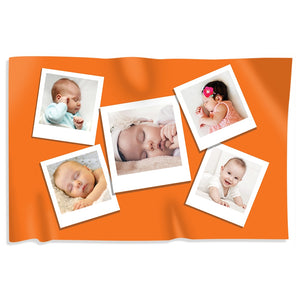 Orange Photo Collage Blanket