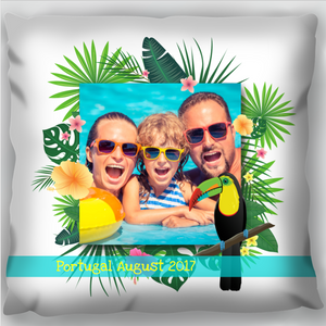 Tropical Holiday Photo Cushion