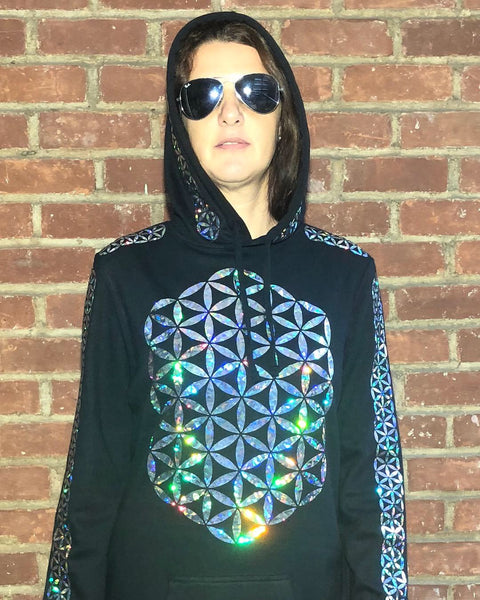 FLOWER OF LIFE HOODED DRESS