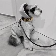 Load image into Gallery viewer, Moschino Black Small Dog Collar and Lead