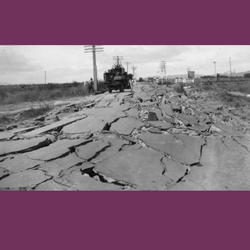 Taradale Road after The Earthquake