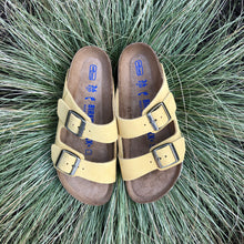 Load image into Gallery viewer, BIRKENSTOCK Arizona Ochre Suede Leather Soft Footbed