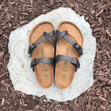 Load image into Gallery viewer, BIRKENSTOCK Mayari Pull Up Anthracite Birko-flor