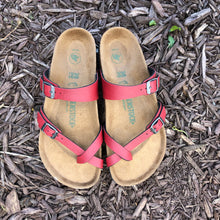 Load image into Gallery viewer, BIRKENSTOCK Mayari Pull Up Bordeaux Birko-flor