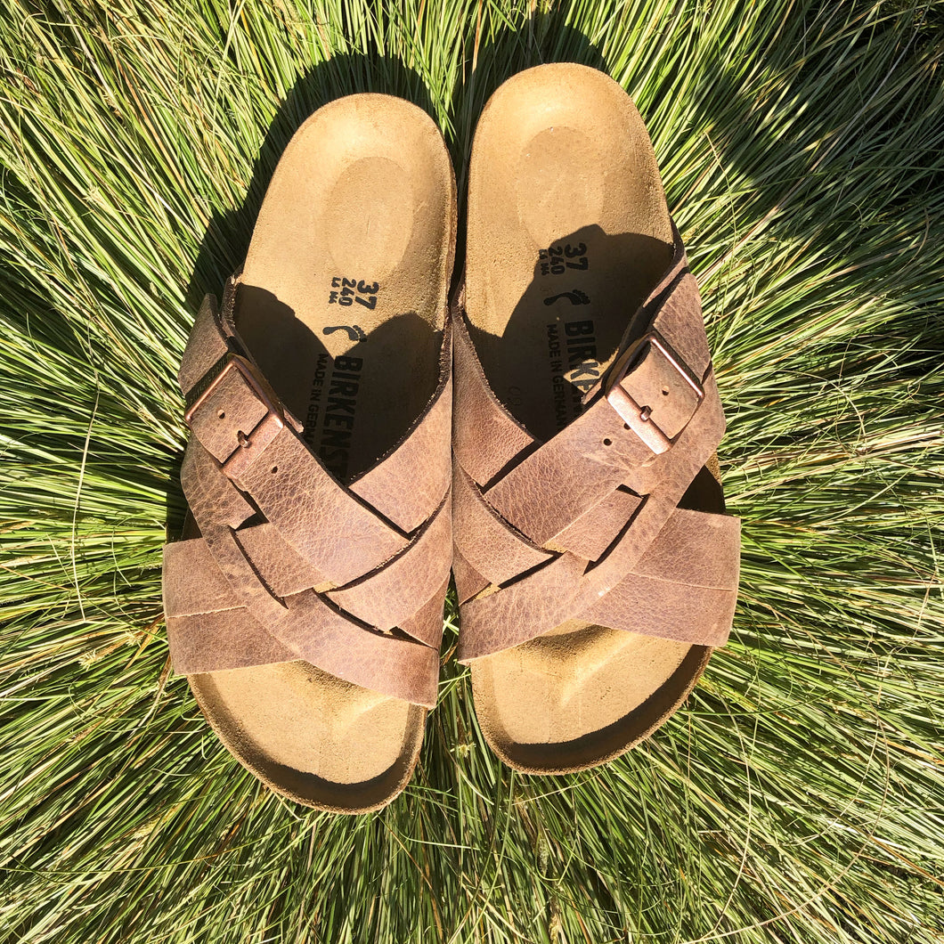 BIRKENSTOCK Lugano Camberra Old Tabacco Leather