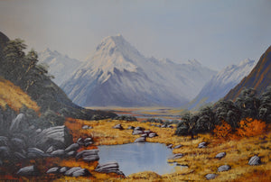 Mt Cook and Mt Tarn Oil by Lindsay Muirhead