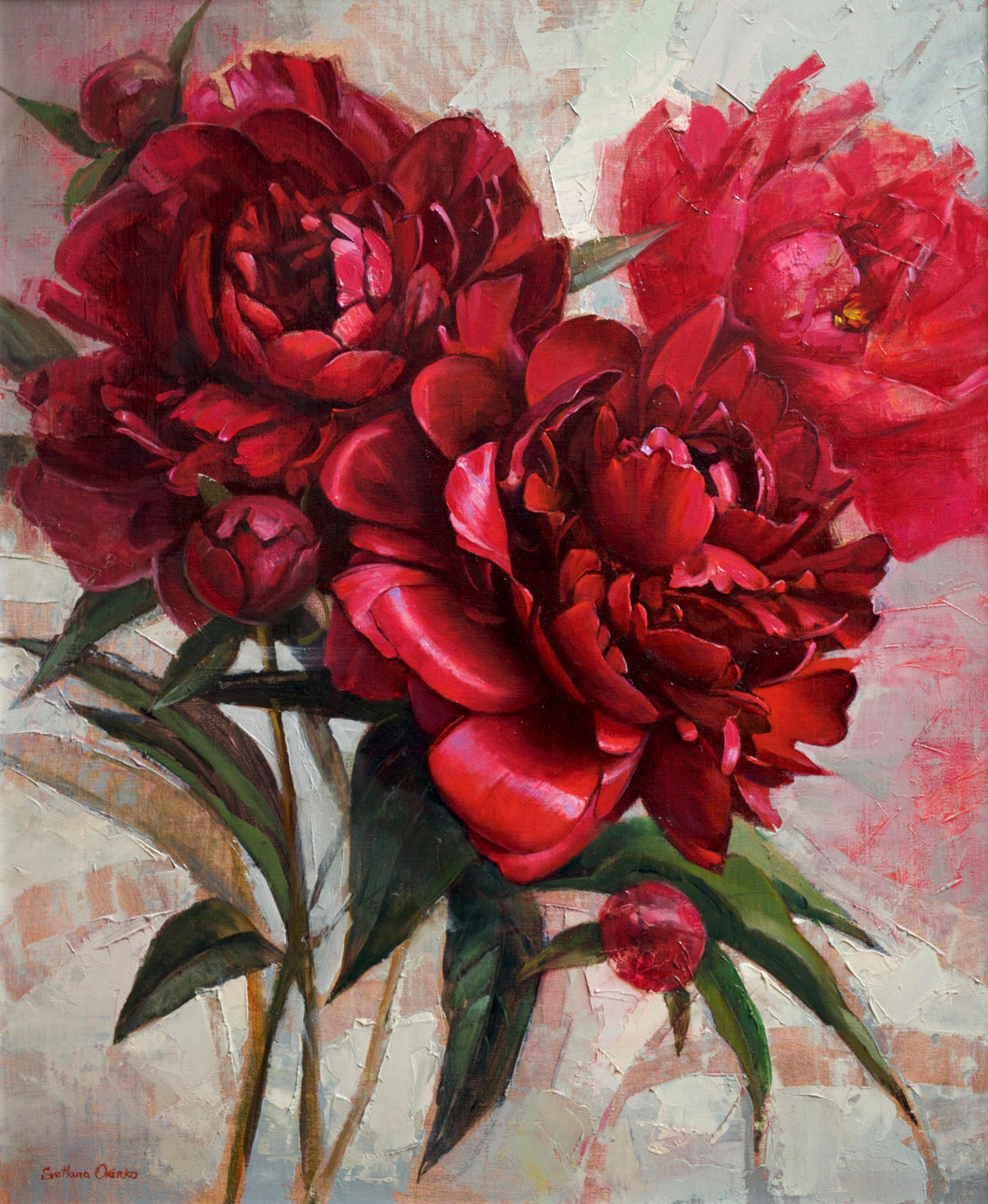 Red Peonies by Svetlana Orinko