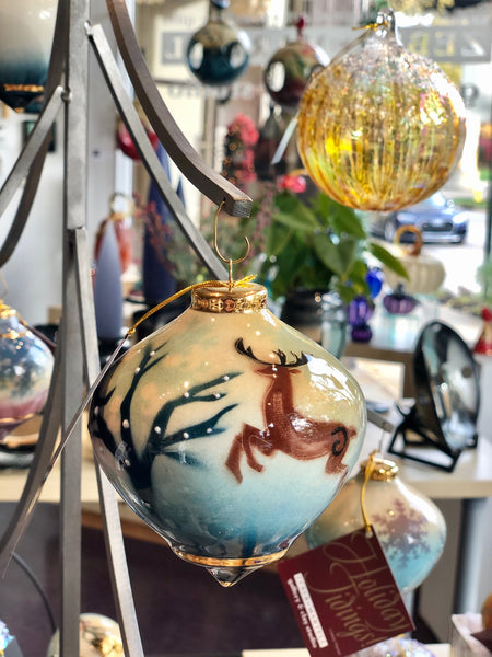 Bulb Ornament (Prancing Deer)