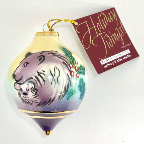 Bulb Ornament (Mama & Cub Polar Bears)