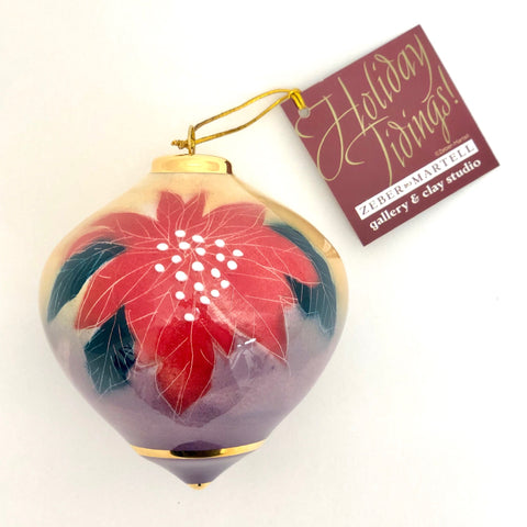 Bulb Ornament (Poinsettia)
