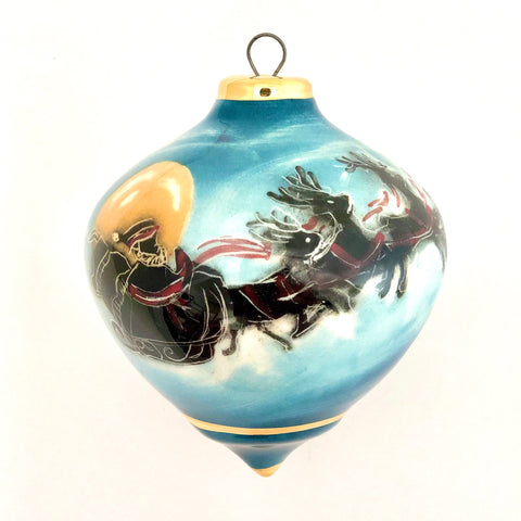"Bulb Ornament (""Santa Sprang to His Sleigh"")"