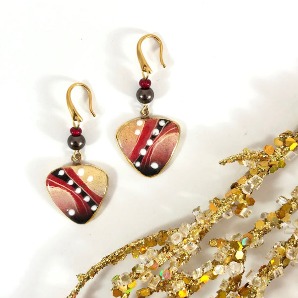 Earrings, Three-Sided (small)