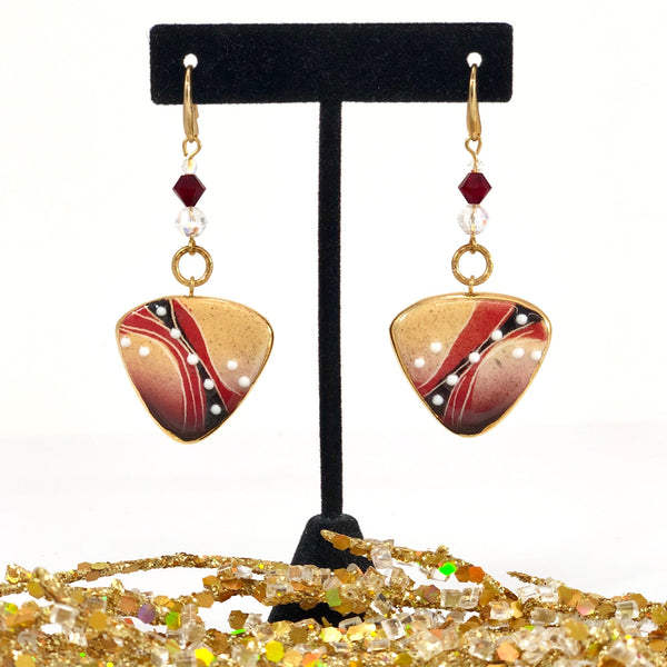 Earrings, Three-Sided (medium)