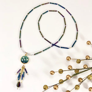 Necklace, Fringe Pendant (long)