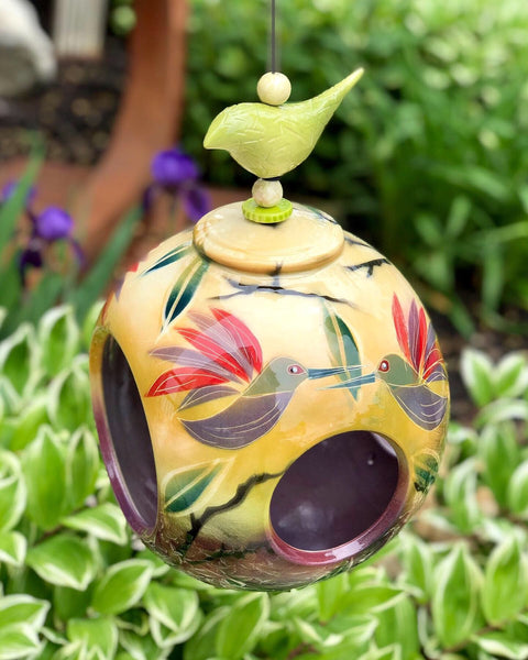 Decorative Ceramic Bird Feeder