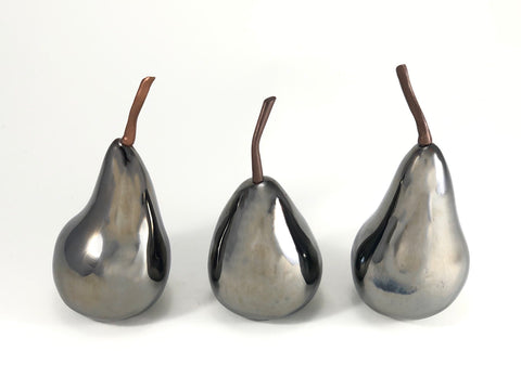 Pears, Bronze glazed (small)-set of 3