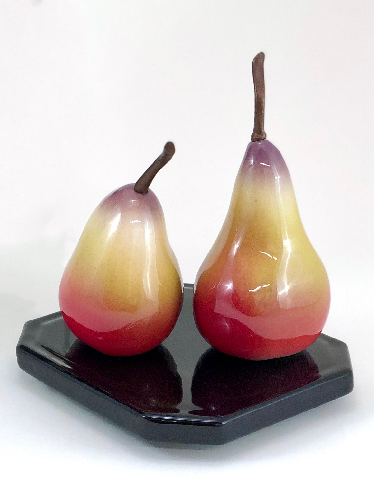 Pear Sculpture, Two on a Base
