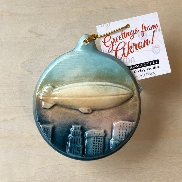Akron Blimp Ornaments/ Wall Plaques (Set of3)