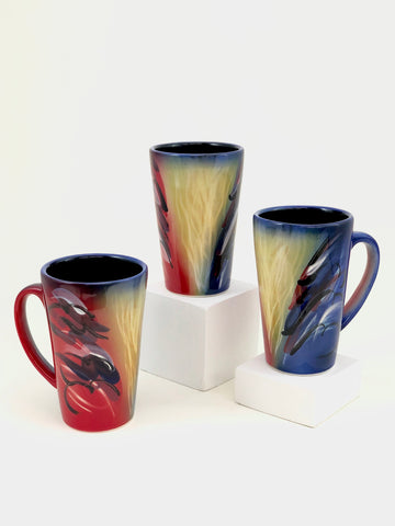 Latte Mug (Abstract Blue)