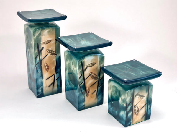 Tabletop Candleholders (Emerald Breeze)