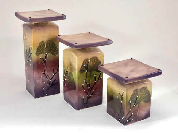 Tabletop Candleholders (Gingko)