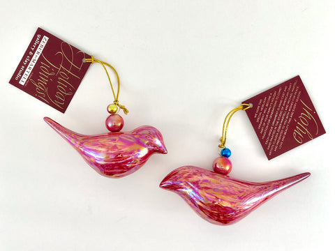 Mod Bird Ornaments (Pair)