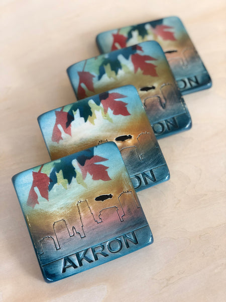 Akron Coasters (Set of 4)