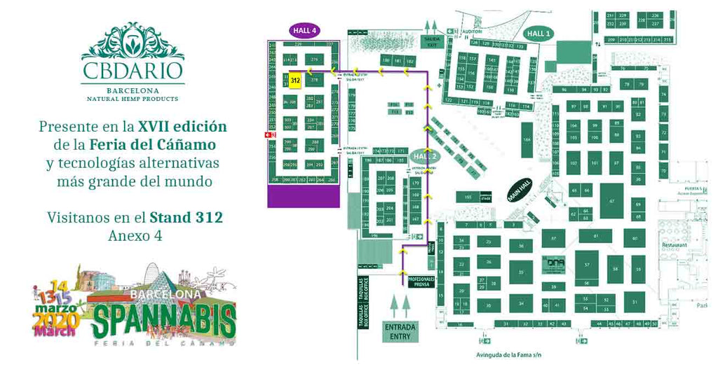 CBDario Barcelona at SPANNABIS, the largest hemp fair