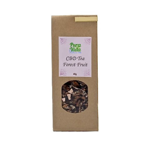 PURA VIDA CBD Forest Fruit Tea with Blackberries (40gr) - Cbdariobarcelona.com