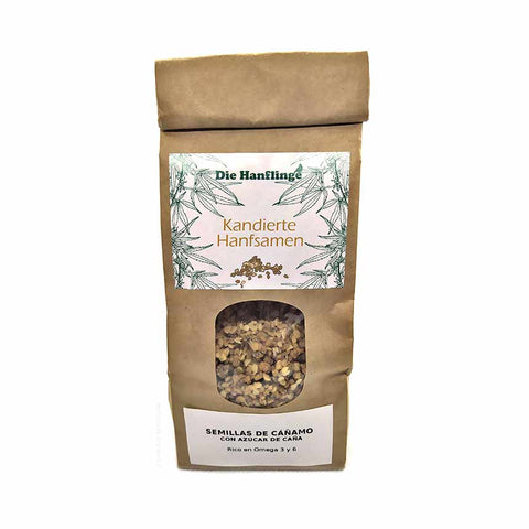 "Hemp seeds with ""cane sugar"", Kandierte Hanfsamen (150gr) - Cbdariobarcelona.com"