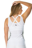 'The Basics' Singlet - White - Cassandra-Anne