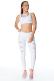 'All Caught Up' Sports Bra - White - Cassandra-Anne