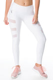 'Three Strikes' Tights - White - Cassandra-Anne
