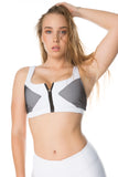 'Now You See Me' Sports Bra - White - Cassandra-Anne