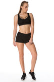 'Cant Catch Me' Shorts - Black - Cassandra-Anne